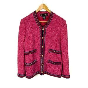 Escada Jacket Blazer Pink Red Size 34